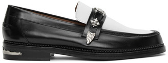 Toga Virilis Black and White Leather Loafers
