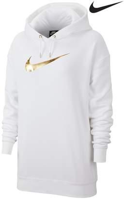 Nike Womens Shine Overhead Hoody - White