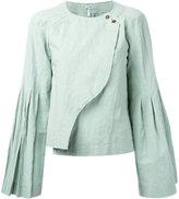 Loewe raw edge blouse - women - Cotton/Linen/Flax - 38