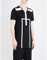 Rick Owens Drkshdw Drkshdw Geometric-panel Cotton T-shirt