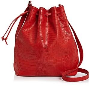 Aqua Croc-Embossed Bucket Bag - 100% Exclusive