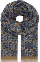 Eton Kaleidoscope Modal And Cotton-blend Scarf