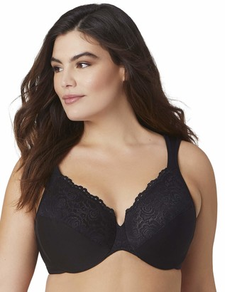 Glamorise Women's Full Figure Plus Size Wonderwire Back Close Bra #1240
