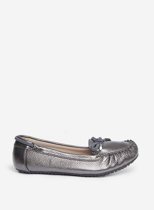 Dorothy Perkins Womens Wide Fit Grey Comfort Pewter Levi Loafers, Grey
