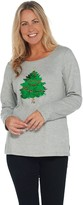 Factory Quacker Reversible Sequin Christmas Tree Knit Top