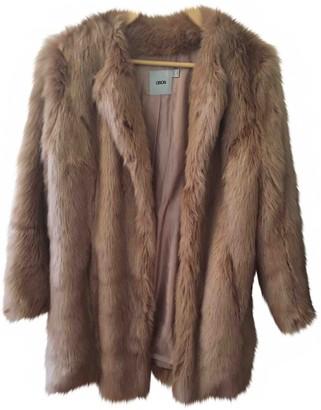 Asos Camel Faux fur Coat for Women