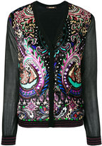 Roberto Cavalli paisley print cardigan - women - Silk/Polyester/Viscose/Virgin Wool - 42