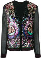 Roberto Cavalli paisley print cardigan - women - Silk/Polyester/Viscose/Virgin Wool - 44