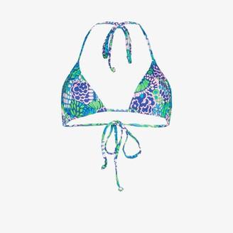 Frankie's Bikinis Tia Printed Triangle Bikini Top - Women's - Spandex/Elastane/Nylon