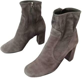 Prada Grey Suede Ankle boots