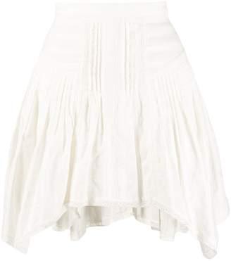 Etoile Isabel Marant pleated asymmetric hem skirt