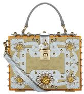 Dolce & Gabbana Embellished Mirrored Perspex Box Tote