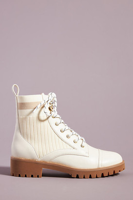 Cecelia New York Theo Hiker Boots By in White Size 7.5