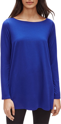 Eileen Fisher Bateau-Neck Long-Sleeve Jersey Tunic