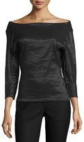 Donna Karan Kendell Off-The-Shoulder Top, Black