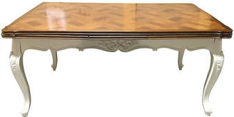 One Kings Lane Vintage French Painted Refectory Table - Chez Marie Antiques