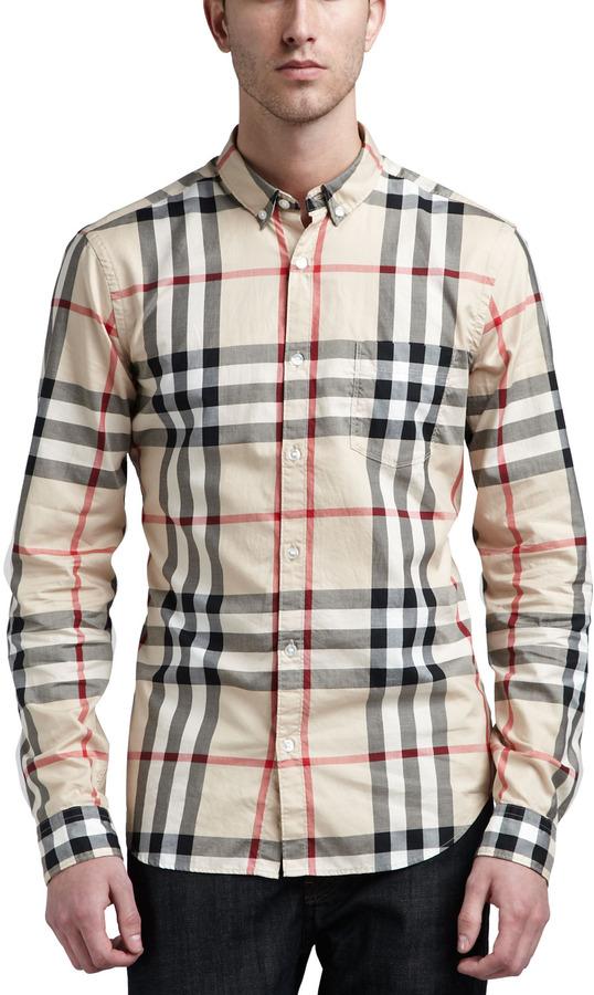 Burberry New Classic Check Button-Down Shirt