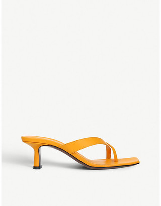 Neous Florae backless leather heeled mules