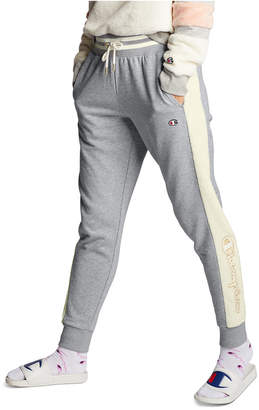 Champion Super Fleece Faux-Fur Metallic-Logo Joggers