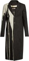 Rick Owens Drip-print denim overcoat