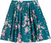 Cath Kidston Scattered Meadowfield Birds Pleated Skirt