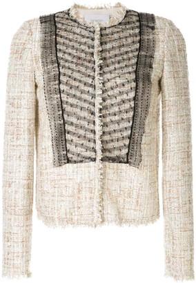 Giambattista Valli bouclé-tweed mesh jacket