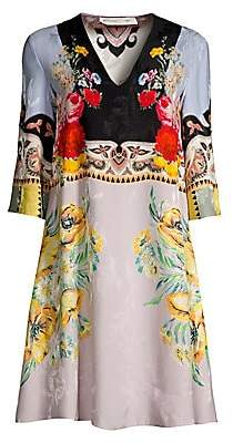 Etro Women's Floral V-Neck Tunic Dress