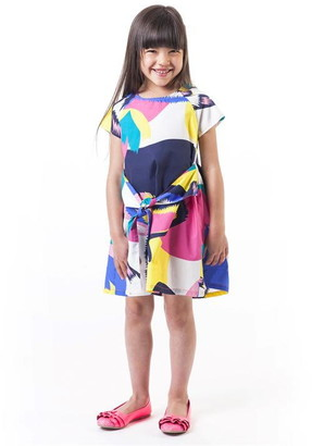 Billieblush Girls Allover Printed Dress With A Bow