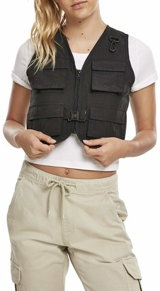 Urban Classics Women's Ladies Short Tactical Vest Jacket