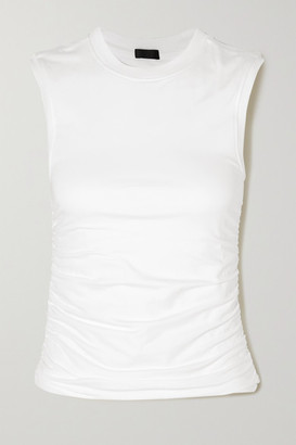 ATM Anthony Thomas Melillo Ruched Stretch-pima Cotton Jersey Tank - White