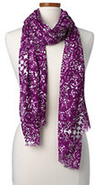 Classic Women's Paisley Scarf-Oatmeal Heather