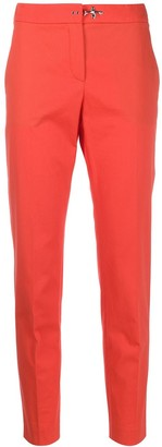 Fay High-Rise Cropped Tapered Trousers