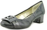 Anne Klein Haleema Round Toe Leather Heels.