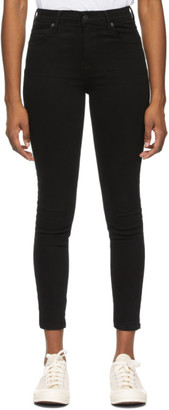 Citizens of Humanity Black Mid-Rise Rocket Ankle Jeans