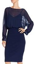 Adrianna Papell Sheer Blouson Dress