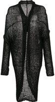 Isabel Benenato curved hem cardigan - women - Polyamide/Polyester/Mohair - 40