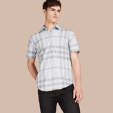 Burberry Short-sleeved Check Cotton Shirt