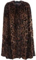 Dolce & Gabbana Leopard-print Fur Cape