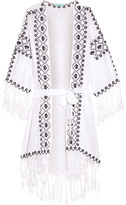 Melissa Odabash Nic Embroidered Voile Robe - White