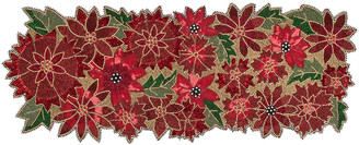 Mackenzie Childs MacKenzie-Childs - Poinsettia Beaded Table Runner