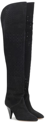 Isabel Marant Lyde suede over-the-knee boots