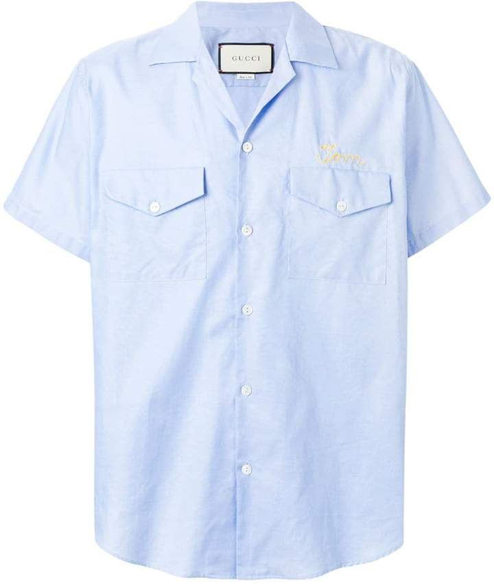 Gucci embroidered short-sleeved shirt