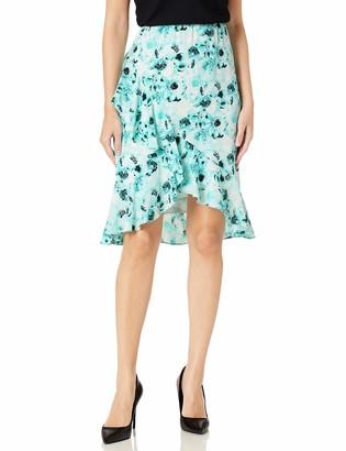 Kasper Women's Watercolor Floral Printed Tulip Skirt
