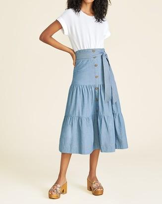 Veronica Beard Emmitt Mixed-Media Dress