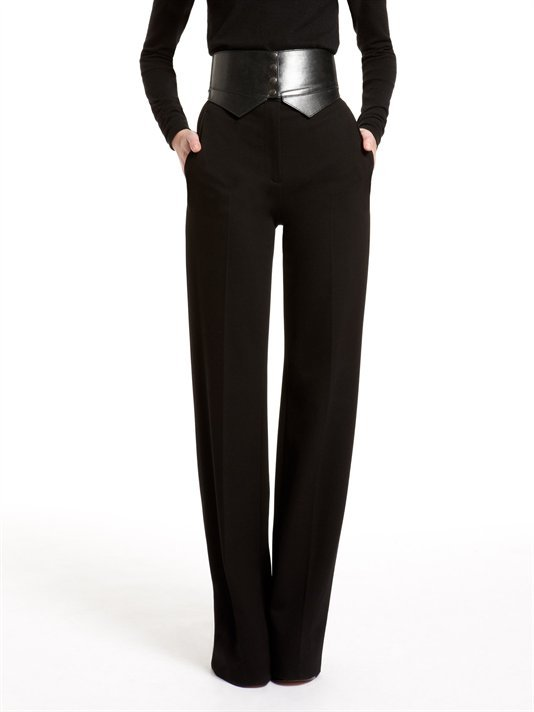 DKNY High Waist Flare Leg Trouser With Off Seam Pockets