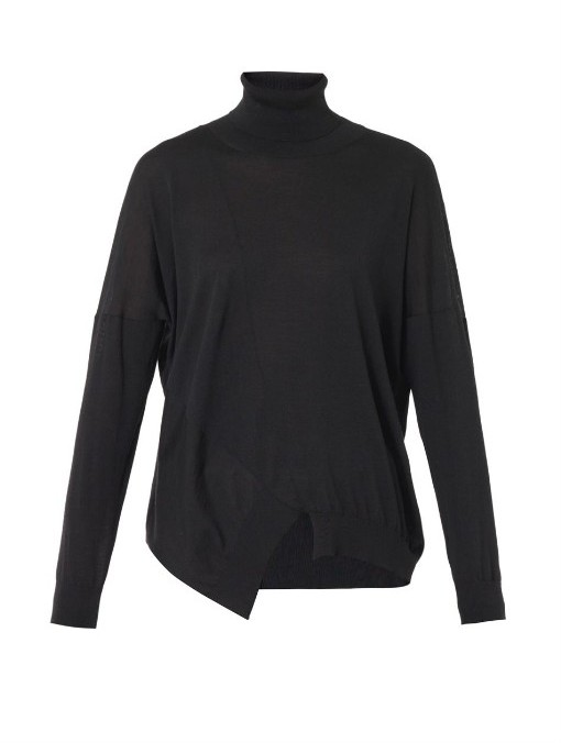 Stella McCartney Wool and silk-blend roll-neck sweater