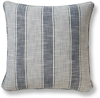 Miles Lake 20x20 Pillow - Indigo Stripe Talbott