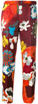 Prada floral pattern cropped trousers