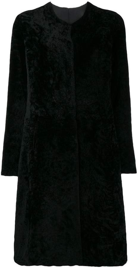 Giorgio Brato fur single breasted coat
