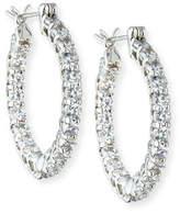 FANTASIA CZ Crystal Infinity Hoop Earrings